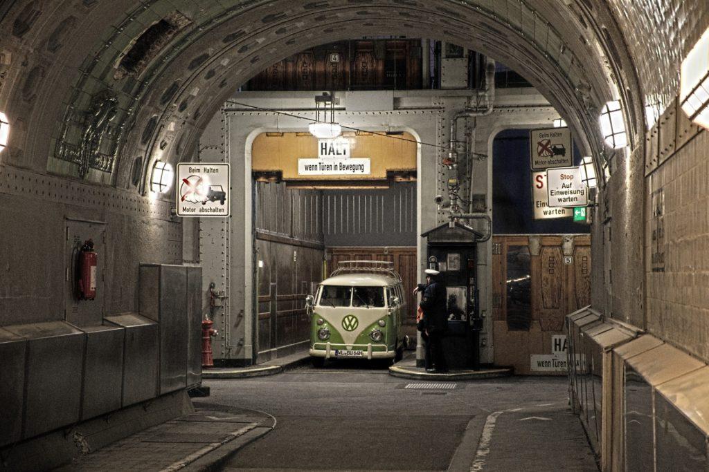 Besuch Elbtunnel Hamburg